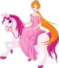 Foto op Plexiglas Zeemeermin Princess riding horse