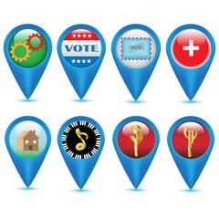 Navigation Web icons.Vector