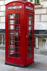 englische Telefonzelle, London