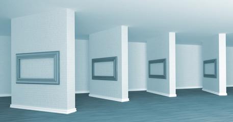 Empty gallery's hall