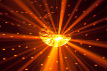 Wall Mural - golden party lights background