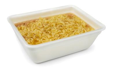Instant noodles in styrofoam box