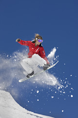 Extreme Snowboard Jump