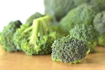 Fresh raw broccoli floret