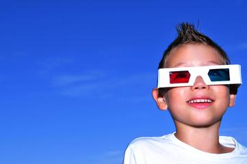 Boy in 3D glasses