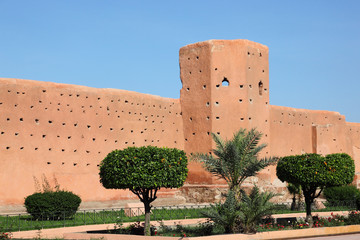 Marrakech old town wall