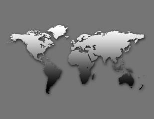 Keuken foto achterwand Wereldkaart weltkarte_sw
