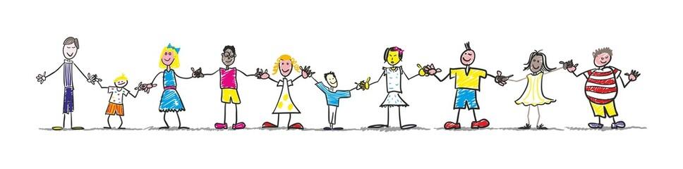 Photos illustrations et vid os de dessin d enfant - Dessin groupe d enfants ...