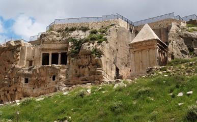 Ancient tombs of Zechariah and Benei Hezir in Jerusalem
