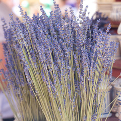 background of dried lavender flowers at the fair