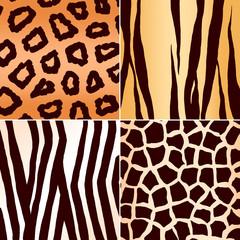 Abstract animal skins