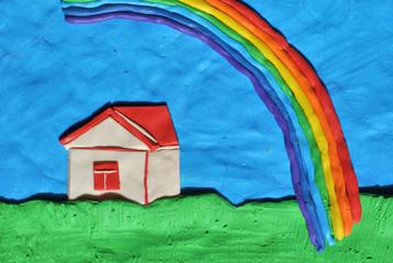 Дом и радуга