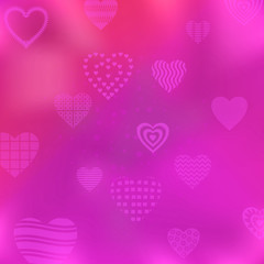 Background with valentine hearts