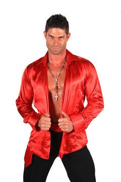 chemise rouge...