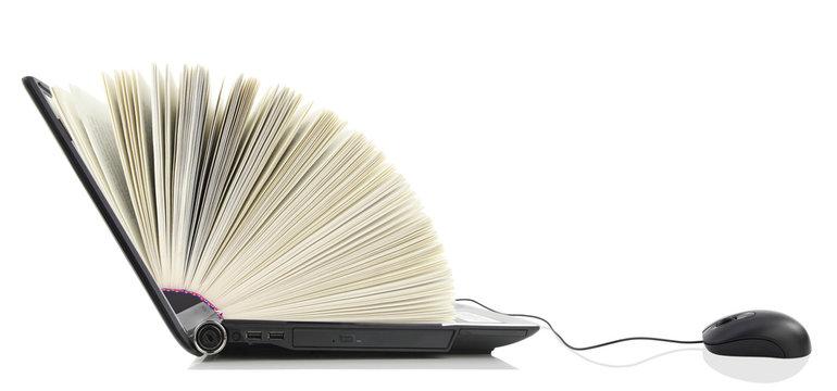 Laptop computer as a Book