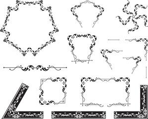 Design Elements, corner, border, center piece