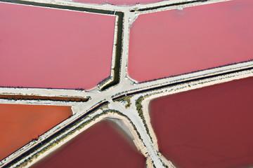 Stores photo Rose banbon Salines d'Aigues-Mortes (30220), vue du ciel