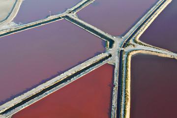 vue aérienne des Marais salants