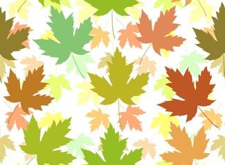 Maple leaf seamless tile