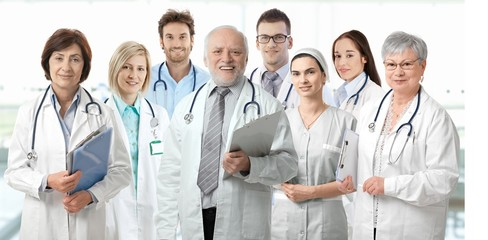 Team portrait of medical doctors