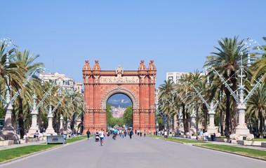 Autocollant pour porte Barcelona Arc de Triomf in Barcelona