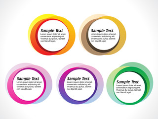 abstract colorful blank circles template
