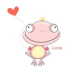 love the pink frog