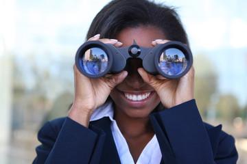 African Woman with Binoculars
