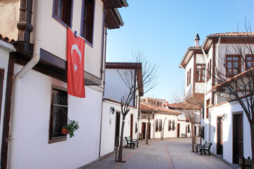 Ankara - Turkey, Ottoman style renovated street