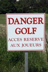 danger golf