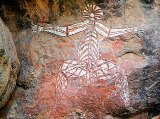Wall Mural - Aboriginal rock, Nourlangie, Kakadu N/P, Australia