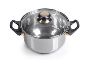 Metallic pan isolated