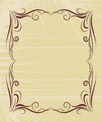 classic decorative filigree frame for text