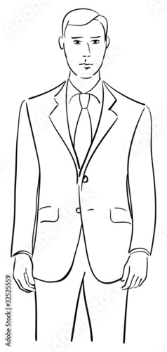 How To Draw A Man With A Suit