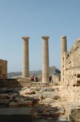 Acropole de Lindos à Rhodes - Temple d'Athéna