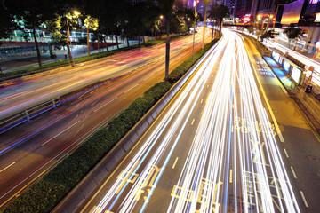 moving cars at night