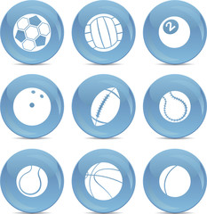 Icons sports balls
