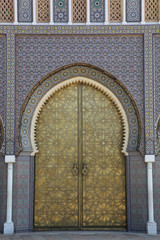 Fez - Entrance gate to Royal Palace