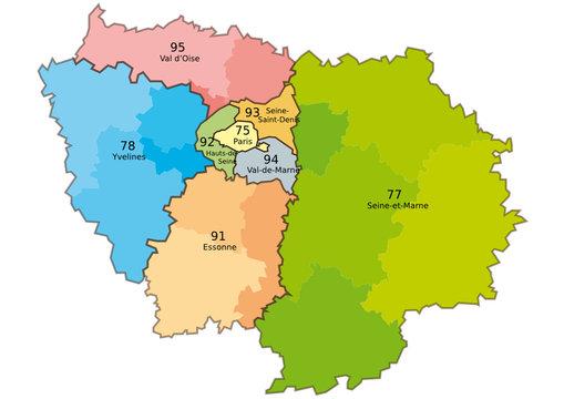 Plan de l'île de France
