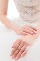 Asian bride's hands