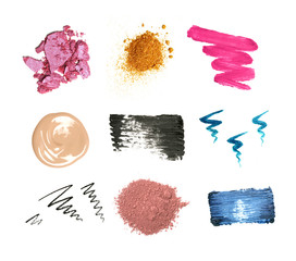Decorative cosmetic samples
