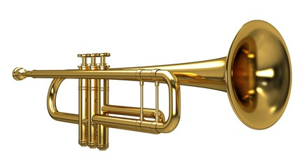 3d rendering of a Trumpet