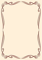 Vector gold frame with ornaments