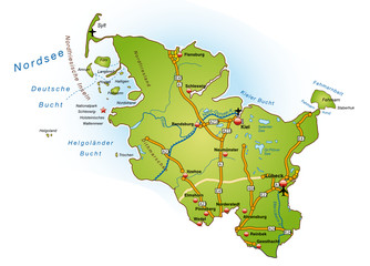 Schleswig-Holstein mit BAB in SVG