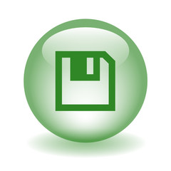 SAVE Web Button (download changes floppy disk click here green)