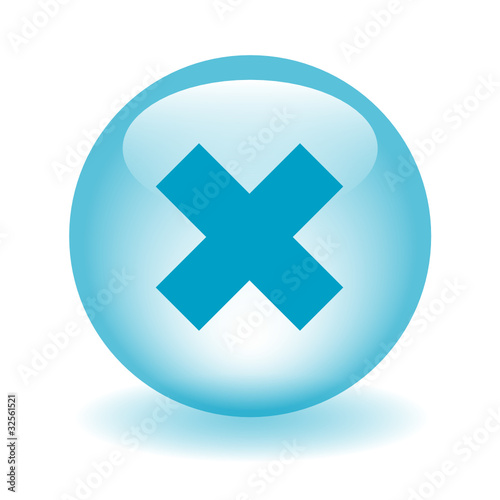"""CROSS Web Button (cancel stop exit close blue)"" Stock ..."