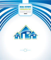 Real Estate Abstract Colorful Business Card
