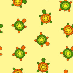 The fun seamless with turtles