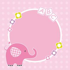 Marco elefante para niña