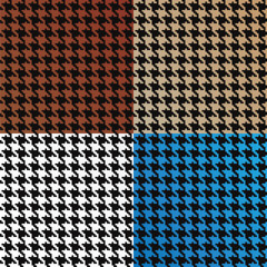 Seamless Vector Houndstooth Pattern Assortment